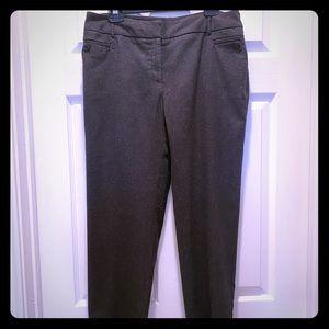 I.N. STUDIO 12P petite slacks pants gray black
